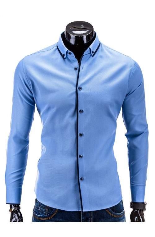 Рубашка мужская. Цвет голубой.