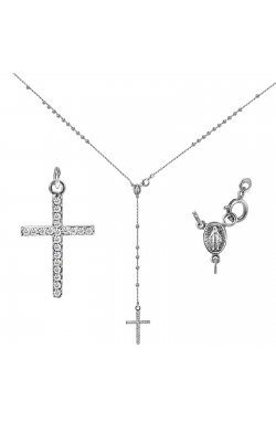 Кулон из белого золота с бриллиантами (1636663)