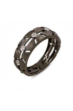 Кольцо из черного золота с бриллиантами