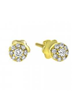 Серьги из желтого золота с бриллиантами (829554)