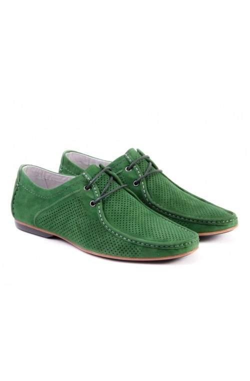 Мокасины мужские. Цвет зеленый.