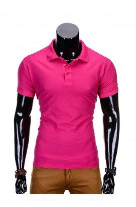 Футболка-поло мужская P715 - розовый
