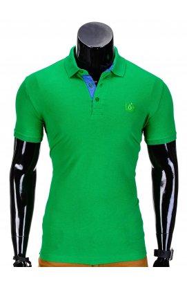 Футболка-поло мужская P837 - зеленый