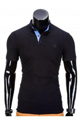 Футболка-поло мужская P837 - черный