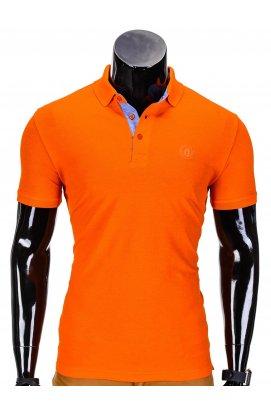 Футболка-поло мужская P837 - оранжевый