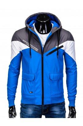 Куртка мужская демисезонная K316 - Серый/голубой