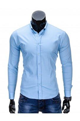 Рубашка мужская R219 - светло - голубой