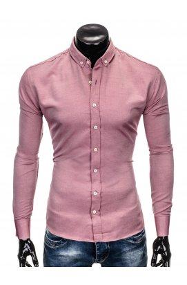 Рубашка мужская R404 - красный