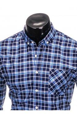 Рубашка мужская R396 - Синий/голубой