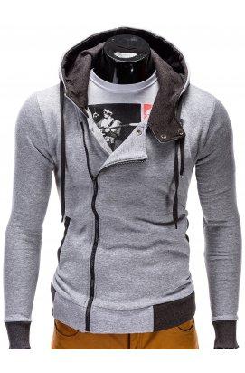 Толстовка мужская на молнии297 - Серый