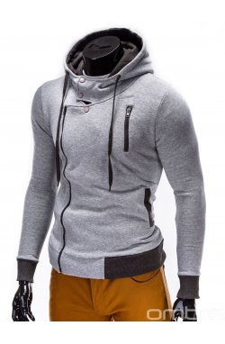 Толстовка чоловіча на застібці з капюшоном B297 - сіра