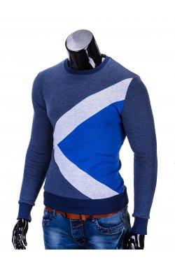 Толстовка чоловіча без капюшона erico B575 - темно-синя