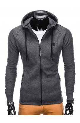 Толстовка мужская на молнии741 - Темно- Серый