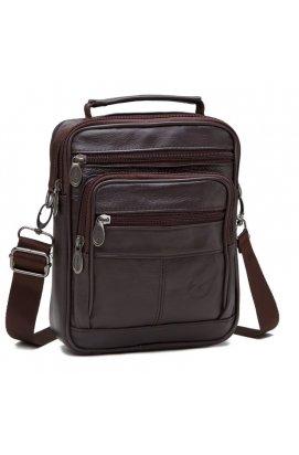 Мессенджер HD Leather NM24-203C - Натуральная кожа, коричневый