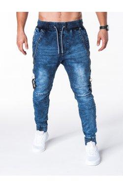 Штани чоловічі джинсові джоггери P647 - сині