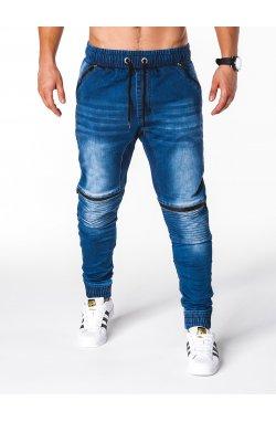 Штани чоловічі джинсові джоггери P651 - сині
