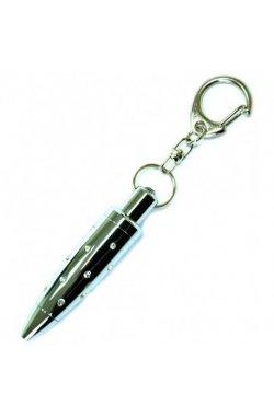 Брелок Romanowski Мини ручка со стразами голуб. BP Rm4072b-3