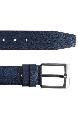 Ремень мужской кожаный синий Glasman 51800