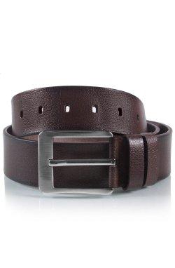 Ремень мужской кожаный шоколадный Glasman 51100