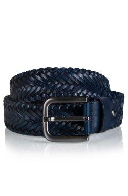 Ремень мужской кожаный ручная работа синий Glasman 708