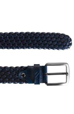 Ремень мужской кожаный ручная работа синий Glasman 723