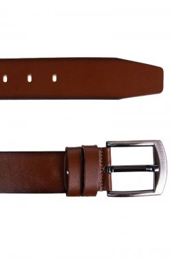 Ремень мужской кожаный рыжий Glasman 54400