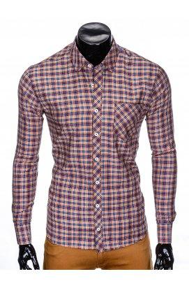 Рубашка мужская R421 - оранжевый