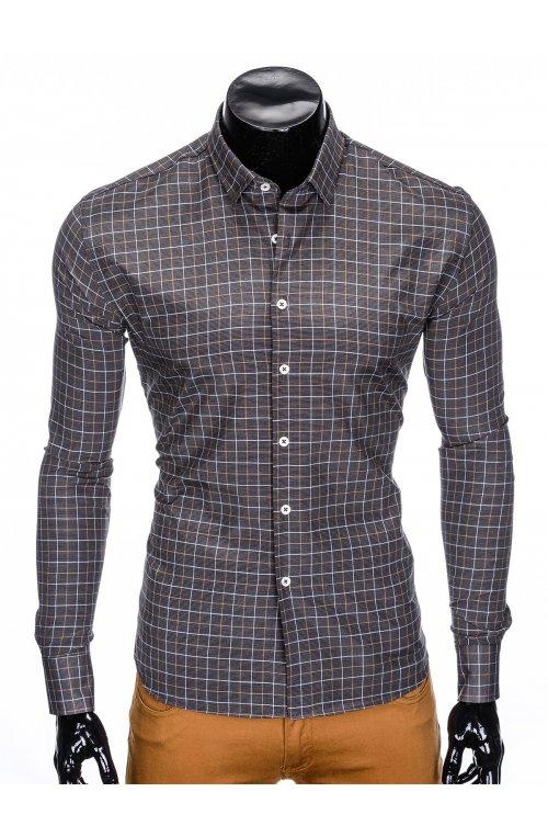Рубашка мужская R425 - dark grey