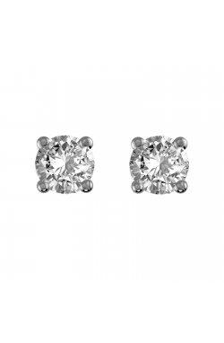 Серьги из белого золота с бриллиантами (1650751)