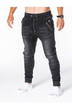 Штани чоловічі джинсові джоггери P404 - чорні