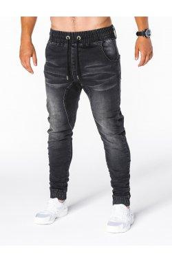 Джинсы мужские джоггеры D407 - черный