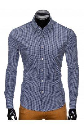Рубашка мужская R426 - Синий/Белый