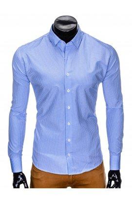 Рубашка мужская R426 - светло - голубой/Белый
