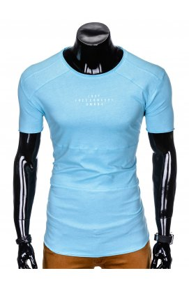 Футболка мужская с принтом F950 - светло - голубой