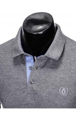 Футболка-поло мужская P837 - Серый меланж