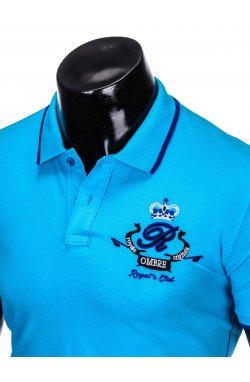 Футболка-поло мужская P906 - голубой