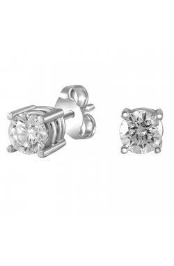 Серьги из белого золота с бриллиантами (866564)