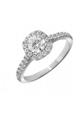 Кольцо из белого золота с бриллиантами (1612044)