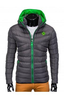 Куртка мужская стеганая K363 - Темно- Серый