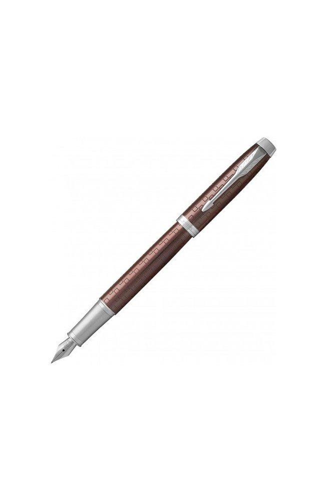 Ручка перьевая Parker IM 17 Premium Brown CT FP F 24 511, Корпус - Коричневый, Франция