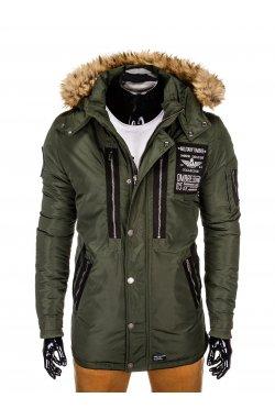 Куртка чоловіча зимова парка C360 - оливкова
