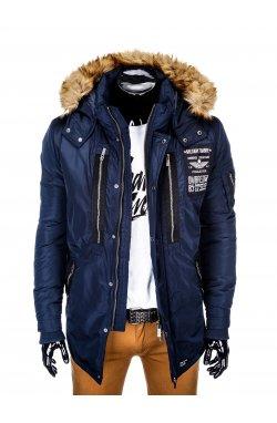 Куртка чоловіча зимова парка C360 - темно-синя
