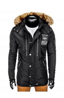 Куртка чоловіча зимова парка C360 - чорна
