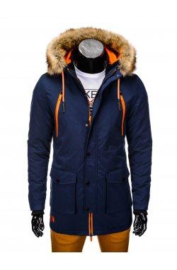 Куртка чоловіча зимова парка C358 - темно-синя