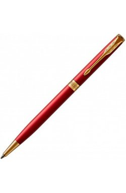 Ручка шариковая Parker SONNET 17 Slim Intense Red GT BP 86 231