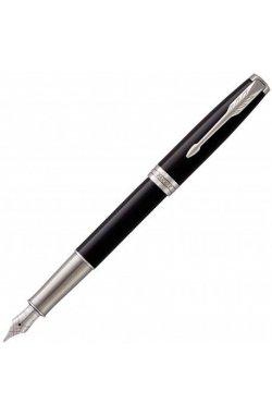 Ручка перьевая Parker SONNET 17 Black Lacquer CT FP F 86 111