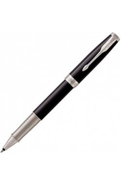 Ручка роллер Parker SONNET 17 Black Lacquer CT RB 86 122
