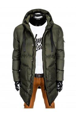 Куртка чоловіча зимова стьобана C381 - зелена