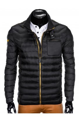 Men's mid-season quilted jacket C359 - black