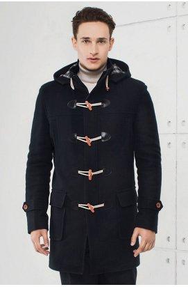 Пальто чоловіче зимове Р-099 (Duffle coat) Темно-синій